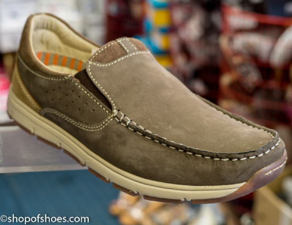 Roamers ultra lightweight suede casual shoe.